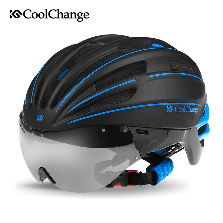 CoolChange MTB helmet with goggles glasses men and women cycling equipment integrally molded helmet // FREE Worldwide Shipping! //     #hashtag4