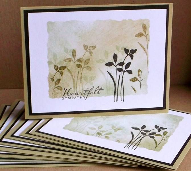 """handmade """"adaptable"""" cards ... Tessa makes several with no sentiment and then stamps the sentiment as needed ... luv the collage style stamping over the negative mask frame ... gorgeous!! SU Just Believe"""