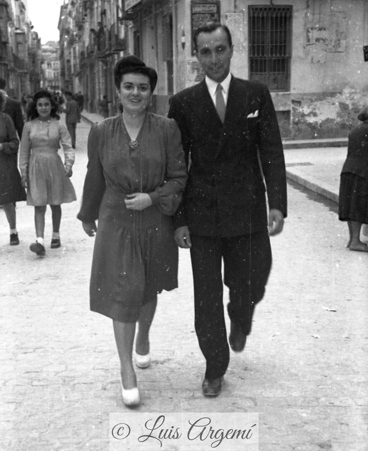 Calle Simón García, años 40. Murcia © Luis Argemí