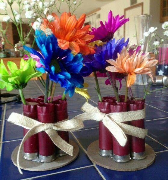 Shotgun shell vase, for redneck party center pieces