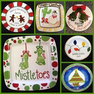 Paint your own pottery Christmas ideas | Ceramic Ideas | Diy christmas gifts, Paint your own ...