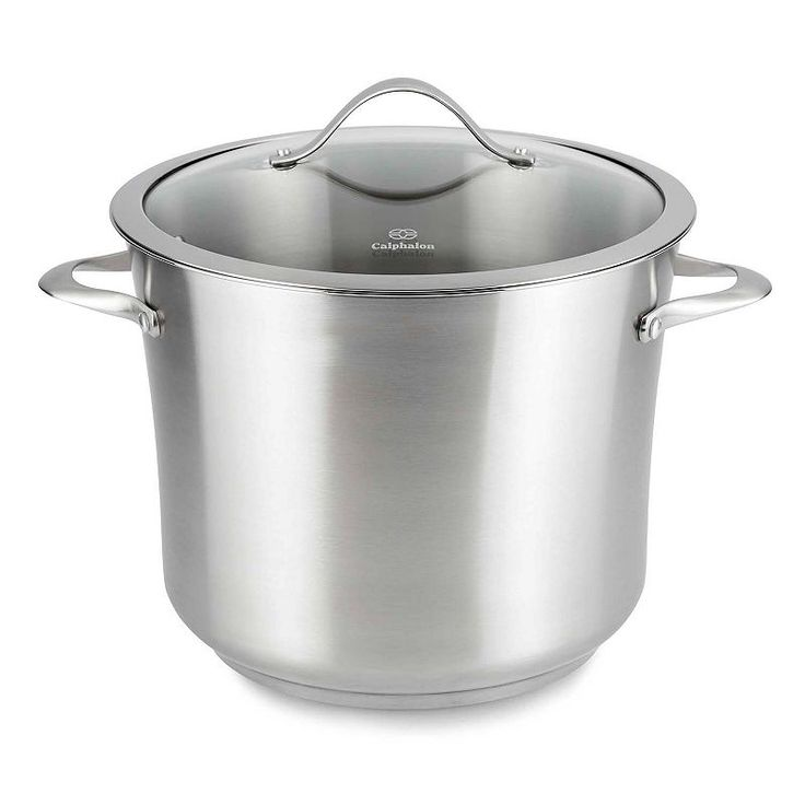 Calphalon Contemporary Stainless 12-qt. Covered Stainless Steel Stockpot, Silver
