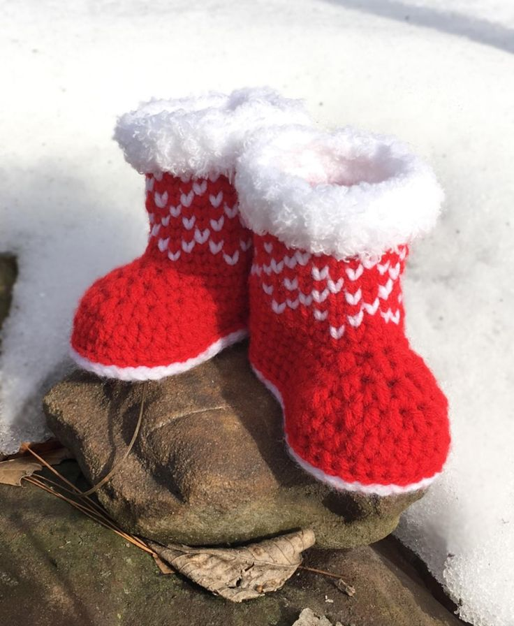 Christmas Baby Booties Crochet Pattern/ Baby Shoes | Craftsy