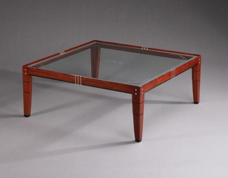 Schuitema salontafel Maxwell II glas Art Deco meubelen - www.hoogebeen.nl/schuitema-meubelen/