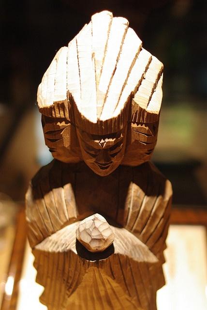 円空仏 正面金剛神像 ENKU statue of Buddha