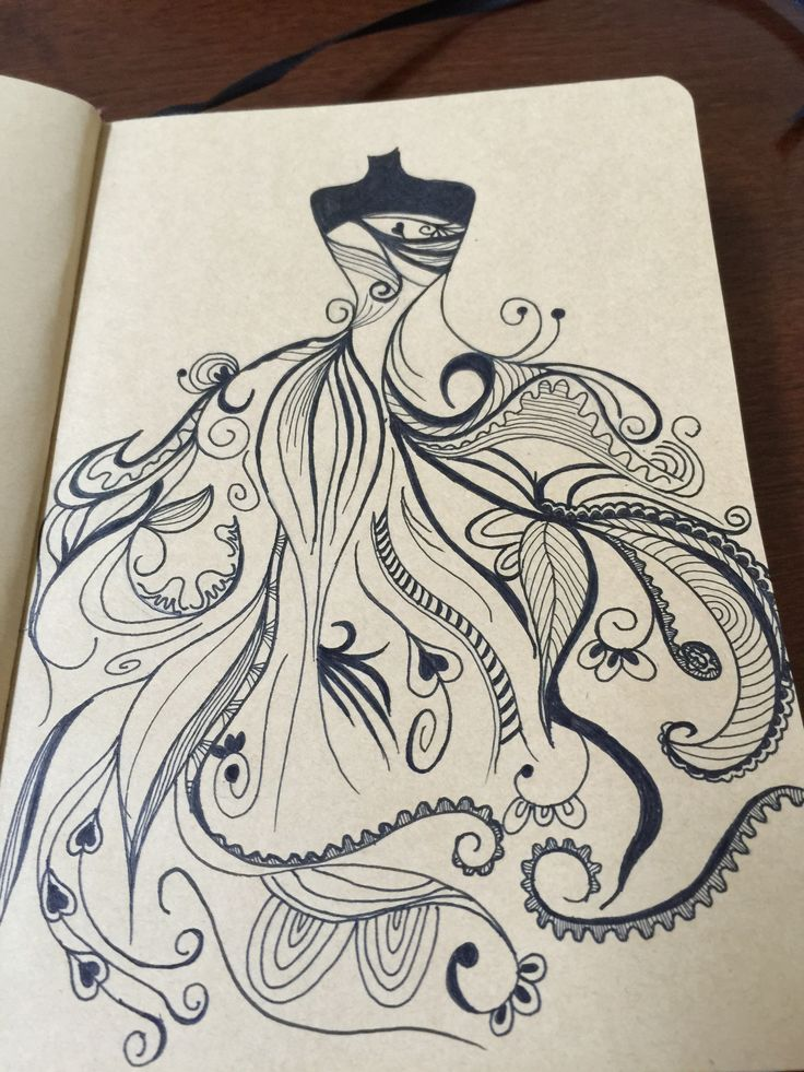 pen drawing drawings easy doodles doodle pencil artist ink architecture gowns discover