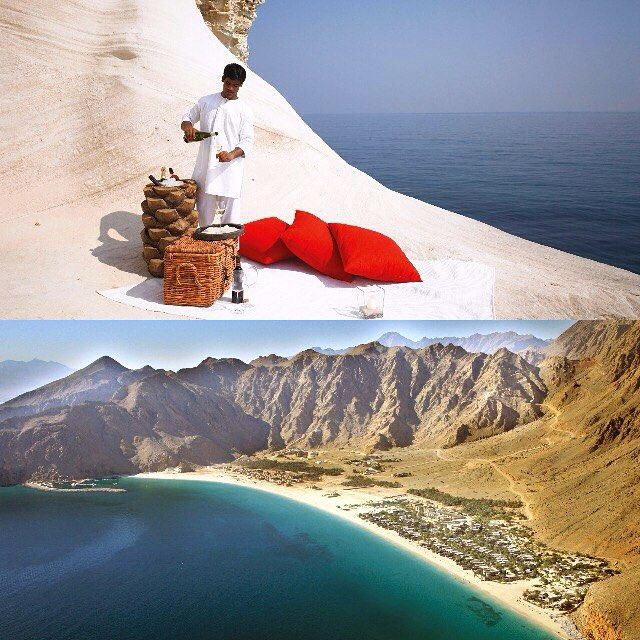 Six Senses Zighy Bay. Intelligent luksus i innovativ design ved smuk sandstrand.  #SixSenses #Oman #ZighyBay #SixSensesZighyBay #drømmeferie #rejser #PlacesAroundEarth #BestVacation #travel #Vacation #TravelAndLife #wanderlust #luxurytravel #privacy #relaxing