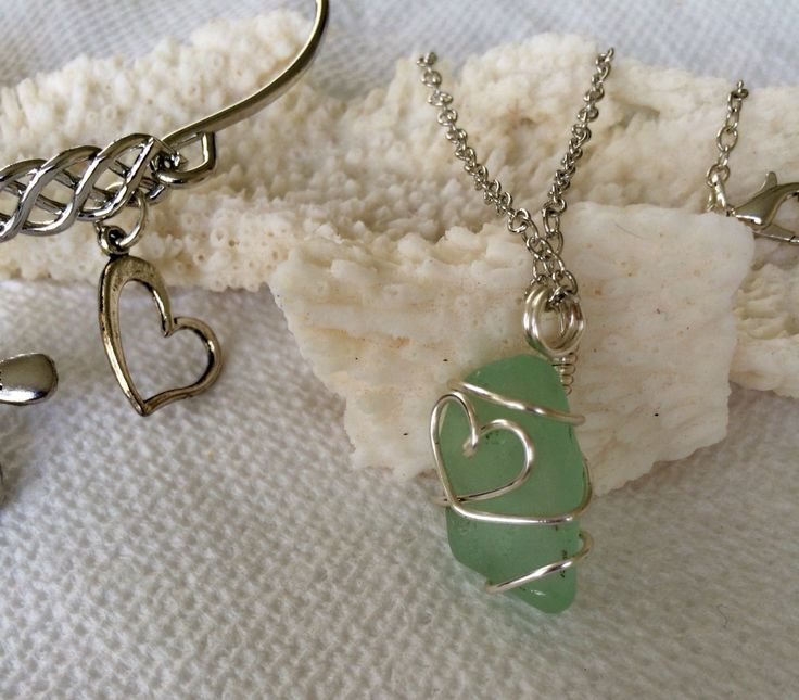 From the Seafoam heart collection
