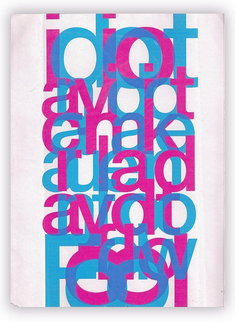 old poster typography by Victor Magalhães Silva, via