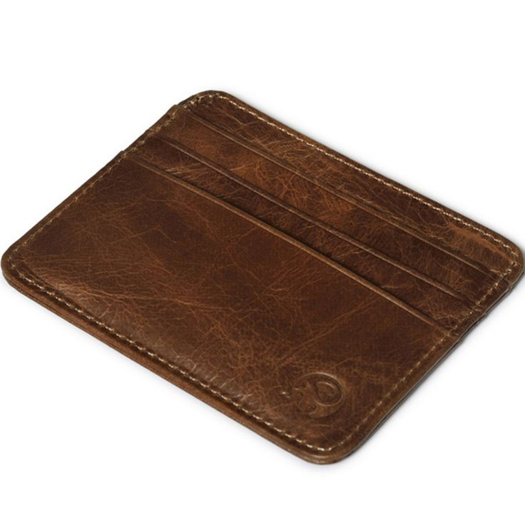 HOT 2016 New Luxury Men Women Leather Card Holder For Credit ID Card porte carte Vintage Business Card Organizer Wallet Purse Z1 *** Offer can be found by clicking the image