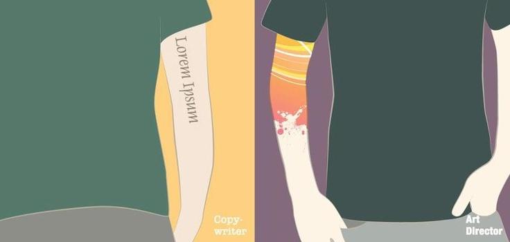Copywriter versus Art Director - the age-old debate of who buys the beers