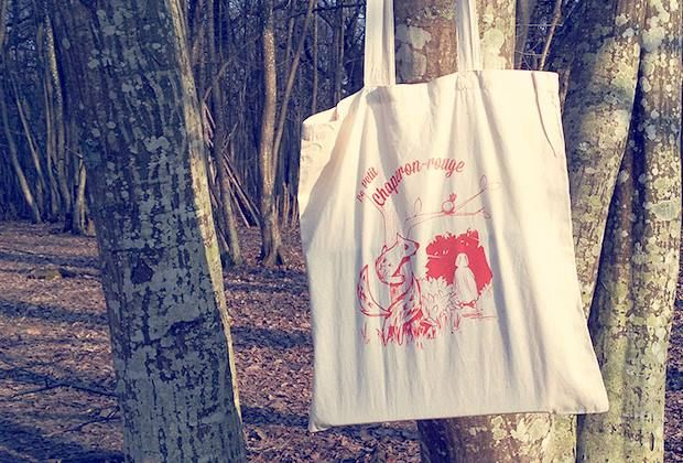 Little Riding Hood - Serigraphie - Tote Bag -  La barbe bleue - https://www.facebook.com/pages/Barbe-Bleue/434620829952648