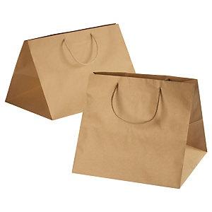 Large brown Kraft paper carrier bags
