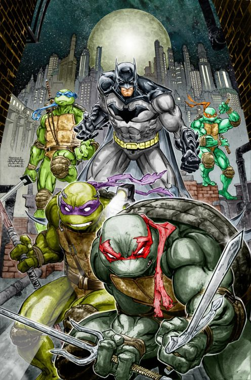 Batman/Teenage Mutant Ninja Turtles -  Freddie E. Williams II