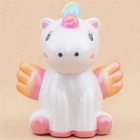 squishy unicorno rosa ali arancioni animali profumato kawaii WaWaii Squishy