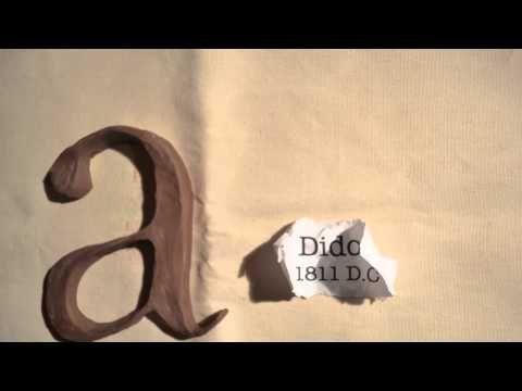 Fontes, tipos de letra; fantástico video de algunhas das tipografías máis características a través da letra A. É unha curta ou un vídeo educativo?