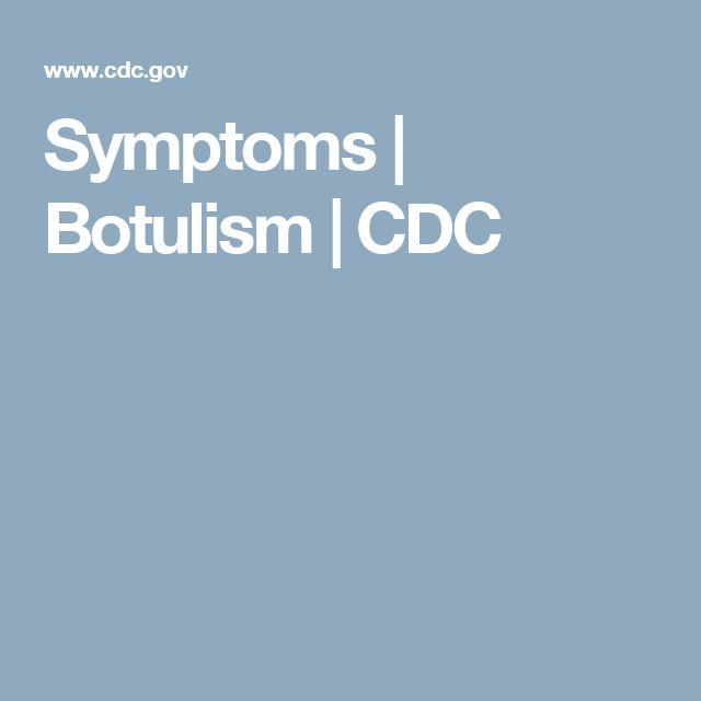 Symptoms   | Botulism | CDC