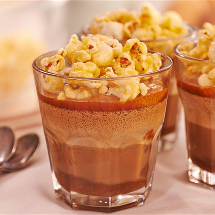 Try this Milk Chocolate Mousse, Caramel Sauce, Toffee Popcorn recipe by Chef Rachel Allen. This recipe is from the show Rachel Allen: All Things Sweet.
