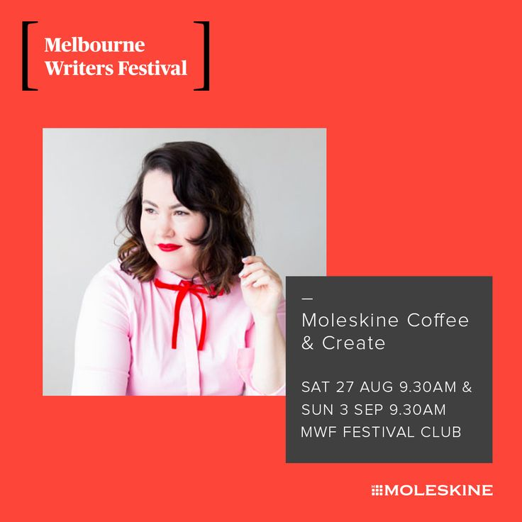 Moleskine have teamed up with the Melbourne Writers Festival — start your Sunday with a shot of caffeine and a dose of creativity starting this weekend!  Join Madeleine Dore and special Festival guests, including Santilla Chingaipe, TextaQueen, Karen Andrews and Sam van Zweden as they reveal the tricks that help their creative lives flourish.  Get the insight and inspiration you need to design your creative life — from journaling tips to sparking creativity at this free event.