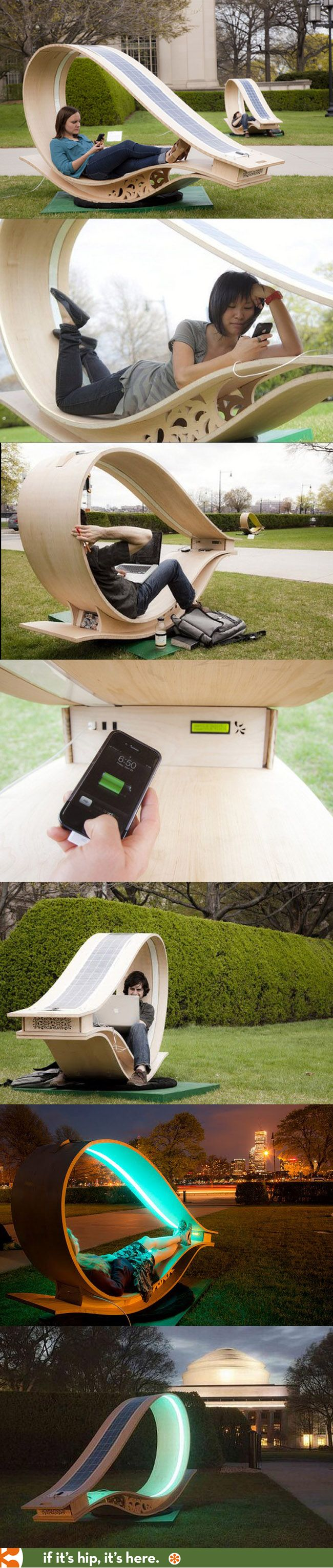The Solar Powered Soft Rocker Workstation.