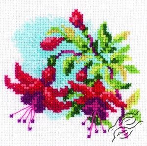 CROSS STITCH KITS - RTO - Cross Stitch Kits - Flowers - Fuchsia I - Gvello Stitch