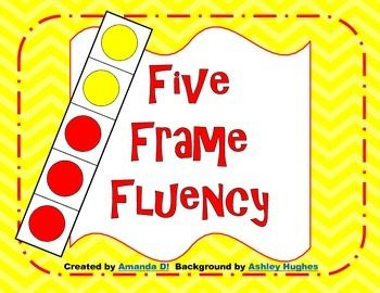 Help your students practice fluency up to 5 with these five frames. This pack includes 5 frames with different ways to make 5, blank 5 frames, and a match game.