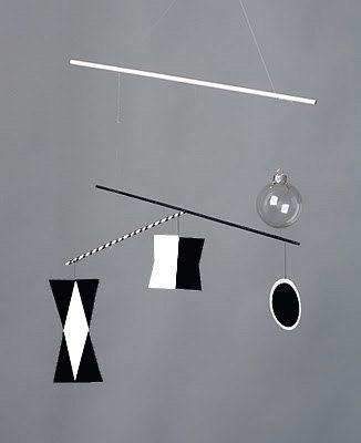 The Munari mobile is the first of a series, of Montessori mobiles, introduced around 2 weeks. via Etsy.