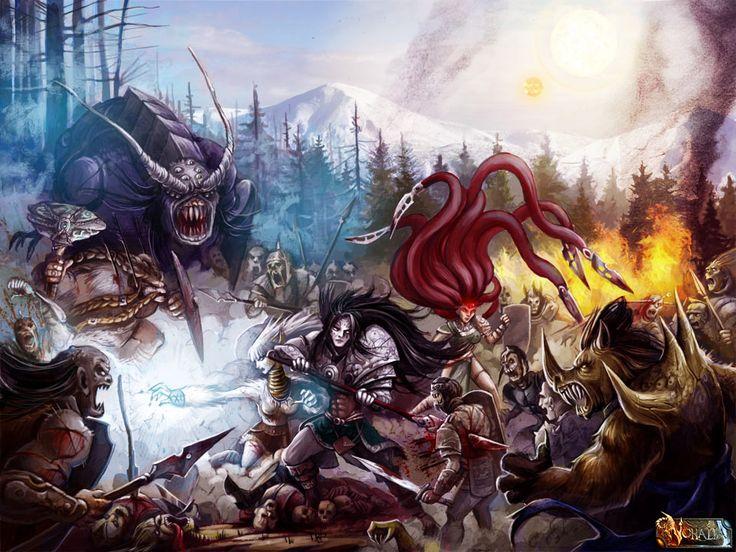 #nohalia #fireclaw #fantasy #dark #darkfantasy #rpg #roleplaygame #painting #digitalpainting #art #digitalart #battle #fighting #epic #epicbattle #fantasyraces #fantasybattle