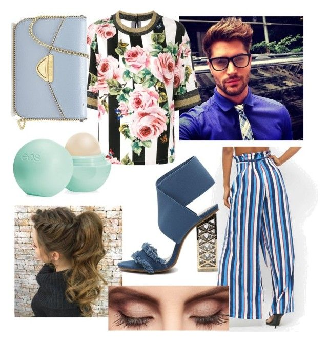 """Date with Nick Bateman"" by drumeaclementina on Polyvore featuring Dolce&Gabbana, Forever 21, Claire Evans, Eos, Saint Tropez, date, valentinesday and nickbateman"