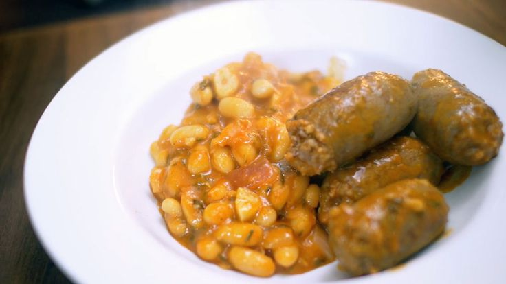 Nick Stellino's Salsiccia Fagiolo (sausage and beans)