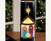 Items similar to Black Nativity Lantern Christmas Craft Kit on Etsy