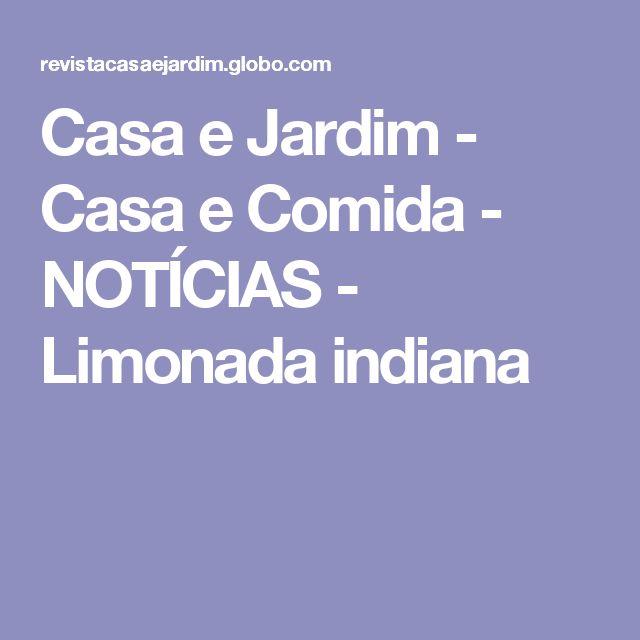 Casa e Jardim - Casa e Comida - NOTÍCIAS - Limonada indiana