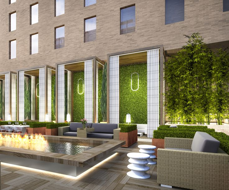 The Perspective Pool Rendering At Sheraton In Downtown LA Design By McCARTAN Luxury