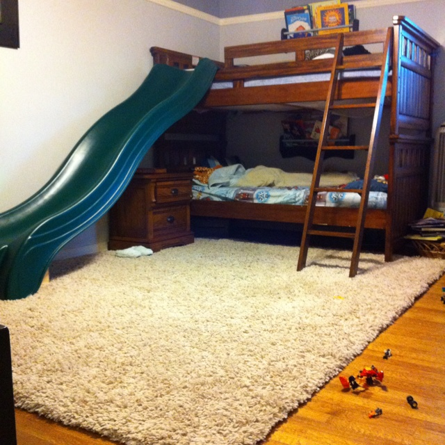 i think slides on beds are the coolest things ever kids rooms pinterest bunk bed room and kids rooms