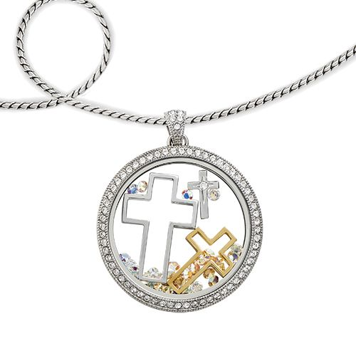 Origami Owl NESTING CROSSES WITH SWAROVSKI CRYSTALS New!  $28.00  Keep the cross central in your life and close to your heart with the newest addition to our nesting collection: the Legacy Nesting Crosses with Swarovski® Crystal. This 3-piece convertible set features a stunning combination of mixed metals when worn together and is highly versatile in how you choose to wear them. https://staciemarshman.origamiowl.com/