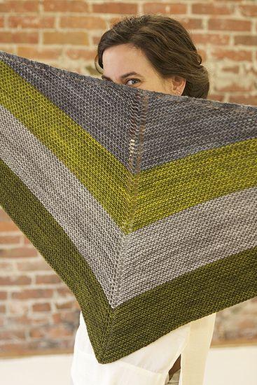 grain, free shawl pattern by Tin Can Knits