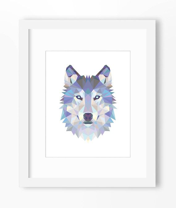 Downloadable Geometric Wolf Art Wall Print Wolf Print, Wolf Art, Wolf Wall Art, Geometric Wolf Print, Wolf Print, Origami Wolf, Geometric Wolf, Triangle Wolf, Wolf Face, Triangle Wolf ===== Simply print from home or at a local or online print shop and enjoy! Perfect for decorating a home or office or to give prints as gifts. All 5 files included in this download are hi resolution at 300 dpi for great looking prints. ★ 4 x 6 pdf - prints on 8.5x11 paper with marks...