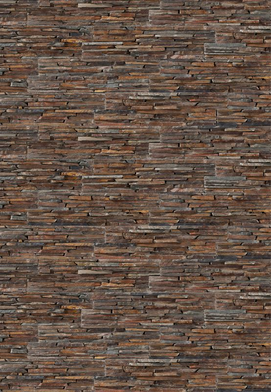 Panel de piedra natural stonepanel laja multicolor ideal - Piedra para muro exterior ...