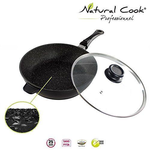 Sauteuse en pierre granité et céramique – tous feux dont induction – Natural Cook Professionnel: Avec la nouvelle gamme Natural Cook®…