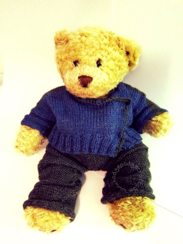 Knitting Patterns For Teddy Bear Outfits : 524 best images about Build-A-Bear Knit and Crochet ...