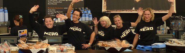Caffe Nero - Black t-shirt. More modern than Starbucks.