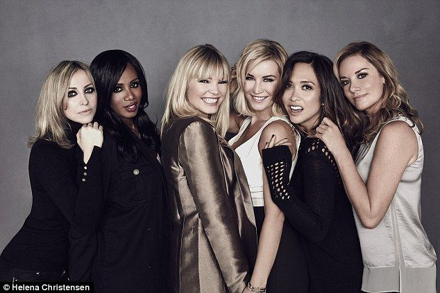 Kate Thornton, pictured third from left, has hired Natalie Appleton, Shaznay Lewis, Denise Van Outen, Myleene Klass and Tamzin Outhwaite as her celebrity ambassadors