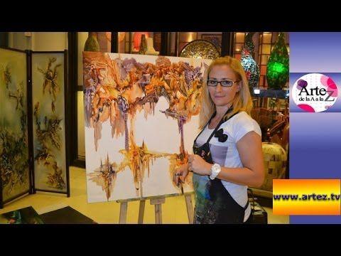 Crea un cuadro con acrílico y pintura asfáltica - YouTube                                                                                                                                                                                 Más