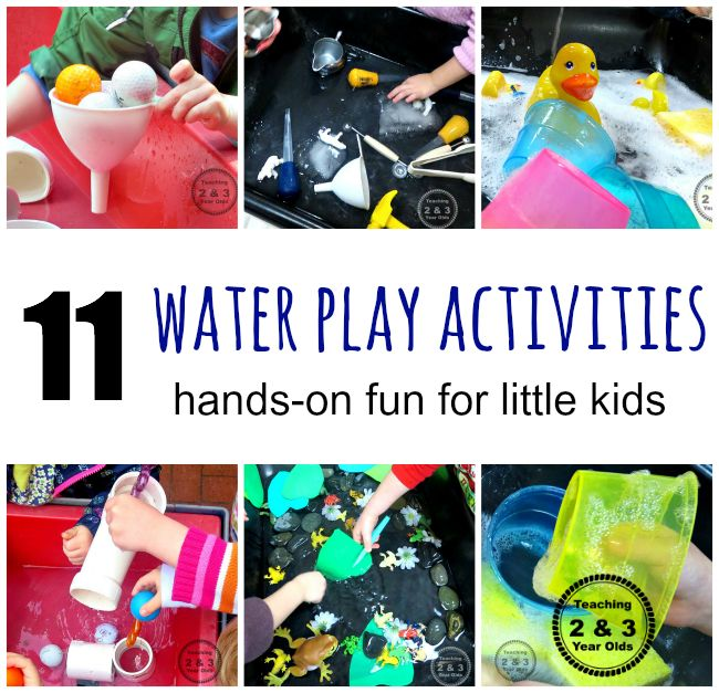 Teaching 2 and 3 Year Olds: 11 Water Play Activities for Little Kids