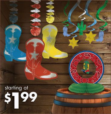 western theme household showers | Western Party Supplies - Western Theme Party - Party City