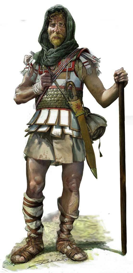 Pablo Outerial - Veterano de Alejandro en el desierto de Gedrosia, 325-324 aC.