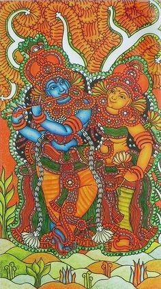 Radha Krishna - The Divine Lovers (Reprint on Paper - Unframed))