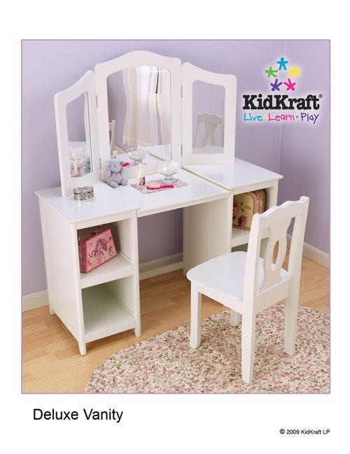 childrens vanity set at big lots deluxe vanity kids stuff pinterest. Black Bedroom Furniture Sets. Home Design Ideas