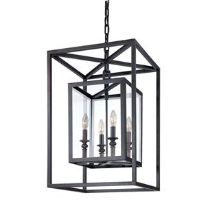 Morgan Four Light Lantern Pendant Lighting Ceiling