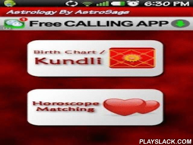 Kundli: Rashifal & Astrology  Android App - playslack.com , Free astrology software, kundli software, aaj ka rashifal by AstroSage.com in Hindi and English. Astrology Software features -* Detailed Kundli (Kundali/ Birth Chart/ Personalized Horoscope)* Horoscope Matching: Vedic Kundli Matching (Love Compatibility & Marriage Compatibility) based on 36 Points System* Daily Horoscope: Aaj Ka Rashifal* Free Matrimony: AstroSage Marriage Service * Many predictions & reports* Parashari…
